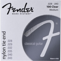 Fender Nylon Strings, Clear/Silver, Tie-End (.028 - .043)