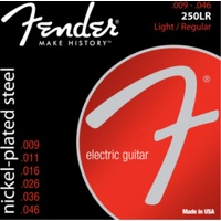 Fender Nickel Plated Steel, Ball End, 250LR (.009 - .046)