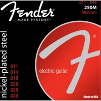 Fender Nickel Plated Steel, Ball End, 250M (.011 - .049)