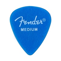 Fender California Clear? Picks, Medium, Lake Placid Blue, (12 pack)
