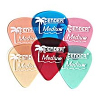 Fender California Clear? Picks, Heavy, Shoreline Gold (12 pack)