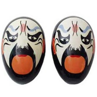 MARACAS-CHINESE FACE SHAKERS Blue