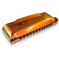 15-62716 Hohner 7545/48/C Chromatic Harmonica CX12 Jazz, Red To  Gold Fade Finish