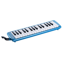 15-71490 Hohner Student 32 Melodica Blue (C94325) In Case With Tube And Mouthpiece