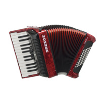 15-A16531S BRAVO II 48 BASS PIANO ACCORDION, W GIG BAG, RED