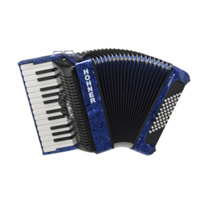 HOHNER  BRAVO II 48 BASS PIANO ACCORDION, W GIG BAG, BLUE