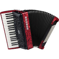 BRAVO III 96 BASS PIANO ACCORDION, W GIG BAG, RED