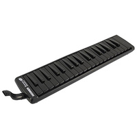 15-C94331 Hohner Superforce 37 Melodica, Black Keys & Body (Even The White Bits Are Black), 3 Full Octaves, With Mouthpiece And Extension Tube