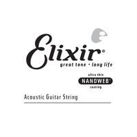 Elixir 15126: Acoustic Nano 0.026 Single Strings