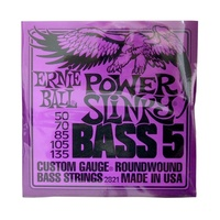 Ernie Ball 2821 Power Slinky 5-String Nickel Roundwound Electric Bass Strings