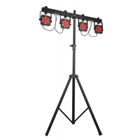 4BAR Flex T USB 4 x LED Par 64 with Carry Bag, Flex Mounting System
