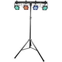 4BAR TRI USB 4 x LED Par 28 x 3 Watt TRI LED's on DMX Bar