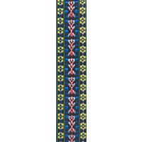 Planet Waves Woven Guitar Strap, Hootenanny Yellow/Red/Blue