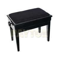 PIANO BENCH-WoodEdge W/Lid.Adj-Blk