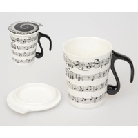 Mug with Lid - Musical Notes