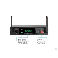 MIPRO Dual Channel 2.4GHz Digital Diversity Receiver. 1 RU metal rack mountable receiver. Frequency