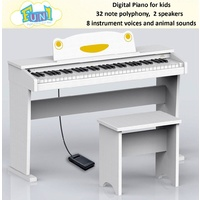 RINGWAY Ringway Fun 1 61 Key Digital Piano WHITE