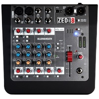 Allen & Heath ZED-i8 2 mic/line/DI + 2 stereo ins, 2-band EQ, LR + Headphone Outs, USB IO