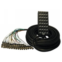 Maximum 24 send, 4 return stage box, 50 metre multicore