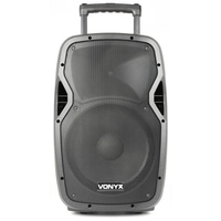 VONYX AP1200BP 12 INC PORTABLE  SOUND SYSTEM  WITH MICROPHONE AND HEADSET