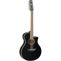 YAMAHA APX700II BLACK 12-STRING ELECTRIC-ACOUSTIC GUITAR
