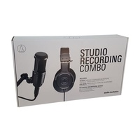AUDIO TECHNICA  Recording Combo Pack including AT2020 studio condenser and M20x monitoring headphones