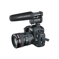 Audio Technica Mono/stereo camera mount mini shotgun microphone for DSLR and video recorders