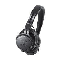 AUDIO TECHNICA  On Ear Professional Monitoring Headphones 45mm drivers, metal components, memory foam pads, 3 cables