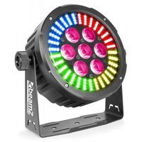BeamZ 7 x 6-in-1  LED Par Can with RGB SMD LED Ring for Effect
