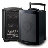 "Chiayo Challenger 150 watt (120 watt RMS) 8"" full range, portable PA system with built-in Bluetooth/SD/USB Player Recorder"