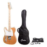 Casino Left Handed 'TL-Style' Electric Guitar Pack (Natural Gloss)