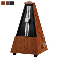 Crown Traditional Wind-Up Metronome with Wood/Leather-Look Finish