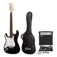 Casino Left-Handed Electric Guitar and Amplifier Pack (Black)