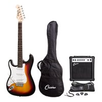 Casino Left-Handed Electric Guitar and Amplifier Pack (Tobacco Sunburst)