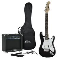 Casino Left-Handed 'ST-Mini' 3/4 Size Electric Guitar & Amplifier Pack (Black)