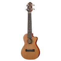 Crafter Ukulele Solid Cedar Top / Rosewood  B&S Cutaway with Pick Up  - Natural Satin finish with Bag