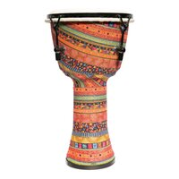 "Drumfire 8"" Tuneable Natural Hide Head Djembe (Multicolour)"