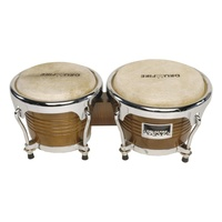 "Drumfire Deluxe 6.5"" & 7.5"" Wood Bongos (Natural Gloss)"