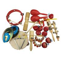 Drumfire 17-Piece Hand Percussion Set with Hard Case