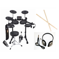 D-TRONIC Q2 ELECTRONIC DRUM KIT INCLUDES DRUM THRONE /STICKS/HEADPHONES           IT