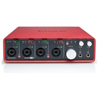 Focusrite Scarlett18i8: USB I|O 4 Mic Pre, 18 in 8 out
