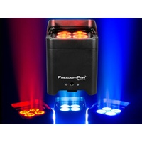 Battery Powered Portable par can - 4 x 4-in-1 RGBA LEDs