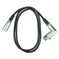 Handy Patch 1m Right Angled Female XLR to Male XLR Cable