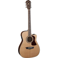 Washburn HF11SCE Heritage 10 Folk Acoustic-Electric Guitar w/ Cutaway & EQ