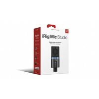 iRig MIC Studio Black- Ultra-portable large diaphragm condenser microphone for IOS,Mac,PC & Android