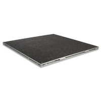 Intellistage 1m x 1m Carpet Finish Folding Stage Platform (single pack).
