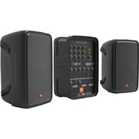 "JBL-EON208P PACKAGED 8"" 2-WAY PA WITH POWERED 8-CHANNEL MIXER"