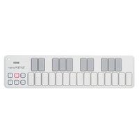 nanoKEY 2  Compact USB Controller Keyboard, 25 button key, White