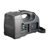 "MIPRO Portable PA, 56 Watts with a 5"" woofer and 1"" tweeter. Integrated Wireless Mic Receiver with A"