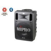 MIPRO Portable PA, 100 Watts with Bluetooth audio player, two wireless receivers and DPM3 USB/SD Aud